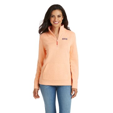 Vineyard Vines Heathered Pouch Pocket Shep Shirt in Tequila Sunrise Pink