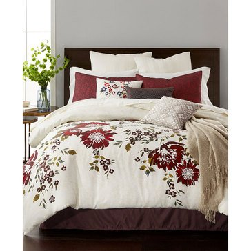 Martha Stewart 10-Piece Comforter Set, Scarlet Meadow - King