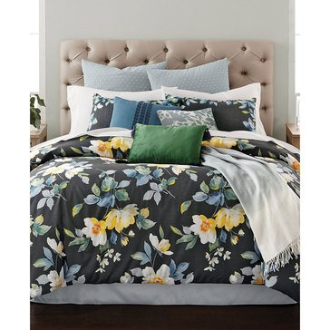 Martha Stewart 14-Piece Comforter Set, Contrast Blooms - King
