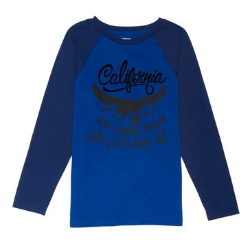 French Toast Toddler Boys' Graphic Baseball Tee, Blue