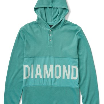 Diamond Supply Men's Winston Long Sleeve Hooded Thermal Shirt