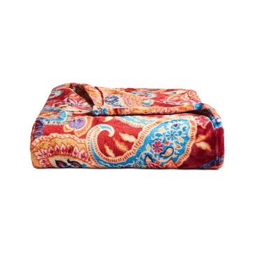 Charter Club Ultraplush Throw, Paisley Red