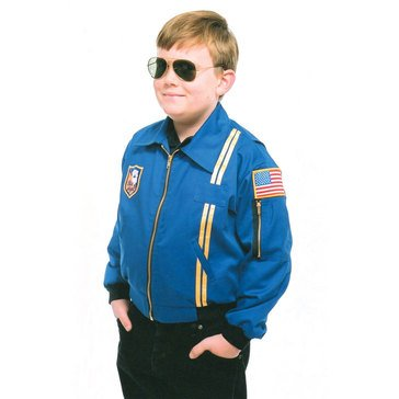Flightline Youth Blue Angels Jacket with USA Flag Patch - Made in USA