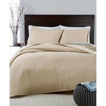 Martha Stewart Broadstitch Diamond Oat Quilt - King