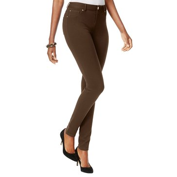 INC International Concepts R 5 Pocket Skinny Jean in Short Length in Coffee Bean