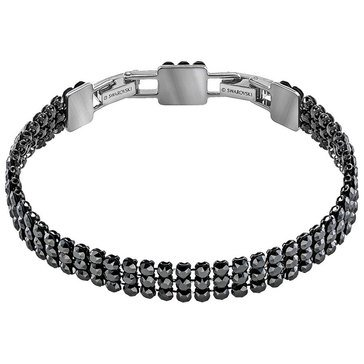 Swarovski Fit Bracelet, Black, Ruthenium Plating