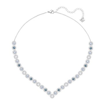 Swarovski Angelic Square Necklace, Rhodium Plated
