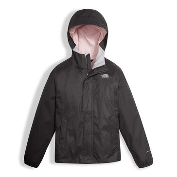 The North Face Big Girls' Resolve Rain Jacket, Graphite Grey