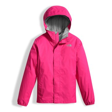 The North Face Big Girls' Resolve Rain Jacket, Petticoat Pink