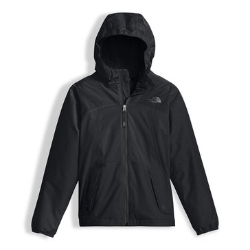 The North Face Big Girls' Warm Storm Rain Jacket, TNF Black