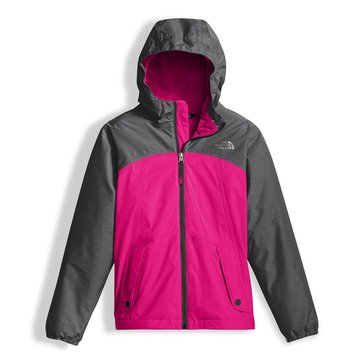 The North Face Big Girls' Warm Storm Rain Jacket, Petticoat Pink