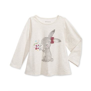 First Impressions Baby Girls' Woodland Bunny Tee