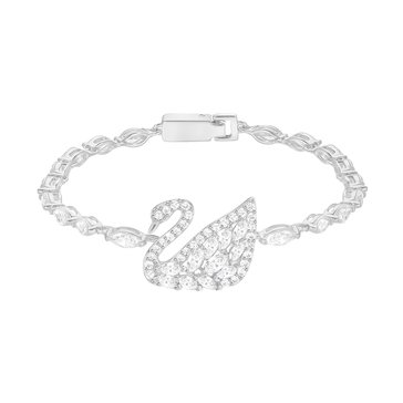 Swarovski Swan Lake Bracelet, Rhodium Plated
