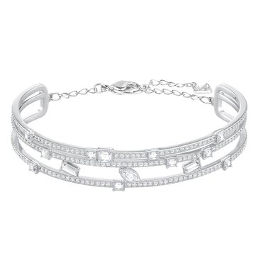 Swarovski Henrietta Bangle, Rhodium Plated
