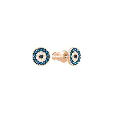 Swarovski Crystal Wishes Evil Eye Earrings, Rose Gold Plated