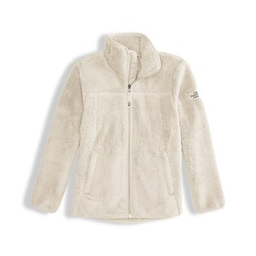The North Face Big Girls' Campshire Sherpa Fleece Jacket, White