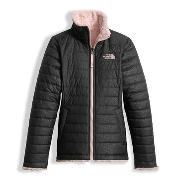 The North Face Big Girls' Mossbud Swirl Jacket, Graphite Grey