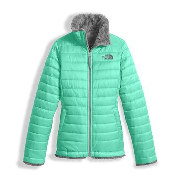 The North Face Big Girls' Mossbud Swirl Jacket, Bermuda Green