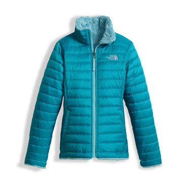 The North Face Big Girls' Mossbud Swirl Jacket, Algiers Blue
