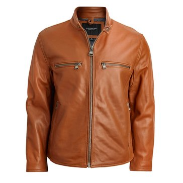 Mark New York Leather Bedford Jacket Cognac