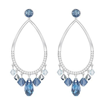 Swarovski Tosha Earrings, Rhodium Plated