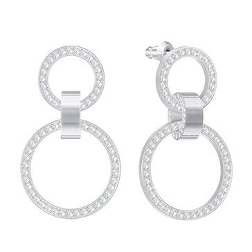 Swarovski Hollow Chandelier Earrings, Rhodium Plated