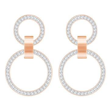 Swarovski Hollow Chandelier Earrings, Rose Gold Plate