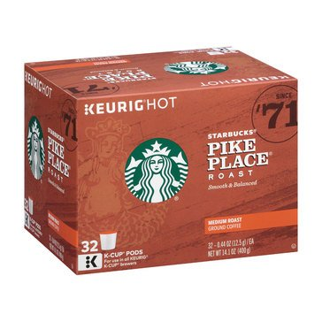 Starbucks Pike Place Roast K-Cups Podsx 32-Count