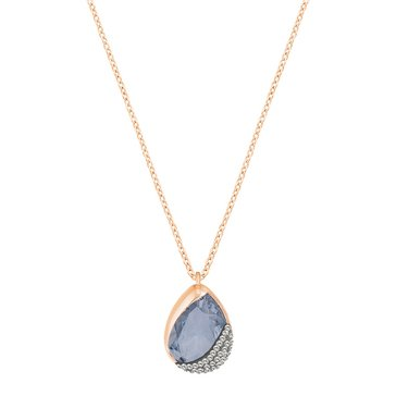 Swarovski Blue Heap Pear Pendant, Rose Gold Plated