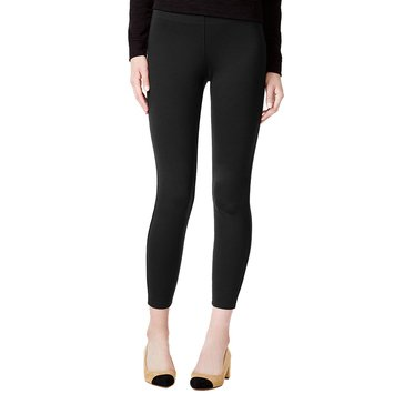 Maison Jules Pull on Ponte Pant in Deep Black