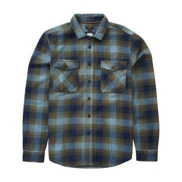 Billabong Men's Ventura Long Sleeve Heavy Flannel Plaid Shirt