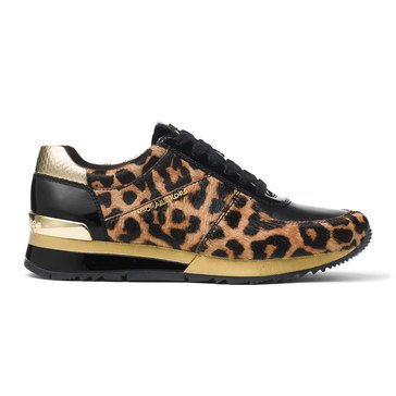 Michael Kors Allie Wrap Trainer Cheetah Haircalf Natural/Black