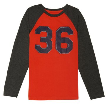 French Toast Little Boys' Graphic Baseball Tee, Red