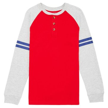 French Toast Little Boys' Raglan Red