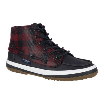 Sperry Top-sider Pike Remi Women's Short Boot PlaidBlack/Red
