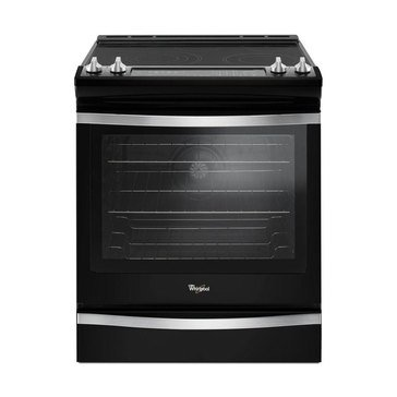 Whirlpool 6.4-Cu.Ft. Slide-In Electric Range with True Convection, Black Ice (WEE745H0FE)