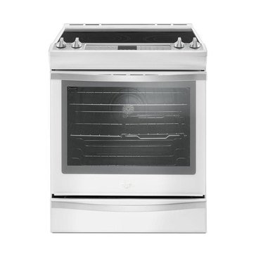 Whirlpool 6.4-Cu.Ft. Slide-In Electric Range with True Convection, White Ice (WEE745H0FH)