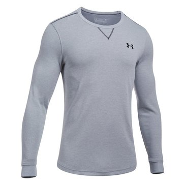Under Armour Men's Light Weight Waffle Crew - Grey Heather