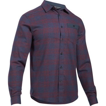 Under Armour Men's Tradesman Light Weight Flannel - Raisin