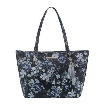 Web Exclusive! Brahmin Medium Asher Tote Navy Madeleines