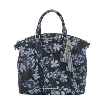 Web Exclusive! Brahmin Large Duxbury Satchel Navy Madeleines Web Excluisve