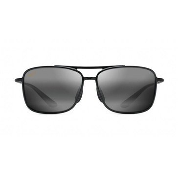 Maui Jim Men's Kaupo Polarized Sunglasses 437-02, Black/ Grey 61mm