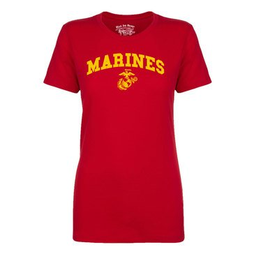 Black Ink Women's USMC Classic Short Sleeve Tee Extended Sizes