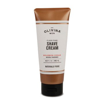 Olivina Men's Conditioning Bourbon Cedar Shave Cream 6.5oz