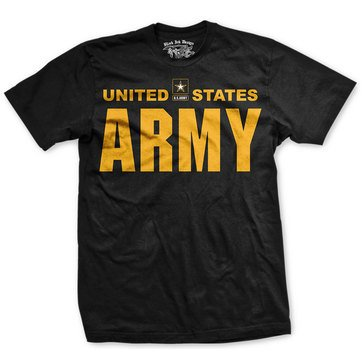Black Ink Men's US Army Classic Short Sleeve Tee Shirt