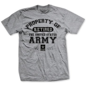 Black Ink Men's Retired US Army Classic Short Sleeve Tee Shirt