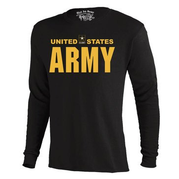 Black Ink Men's US Army Classic Long Sleeve Tee