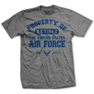Black Ink Men's US Air Force Retired Classic Tee