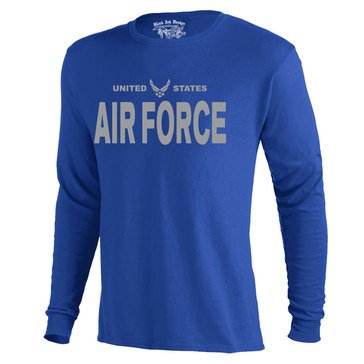 Black Ink Men's US Air Force Classic Long Sleeve Tee