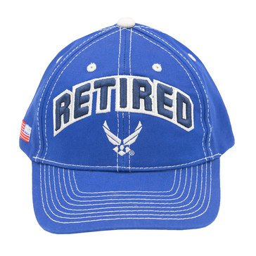 Black Ink Men's Retired With Air Force Wings Classic Hat
